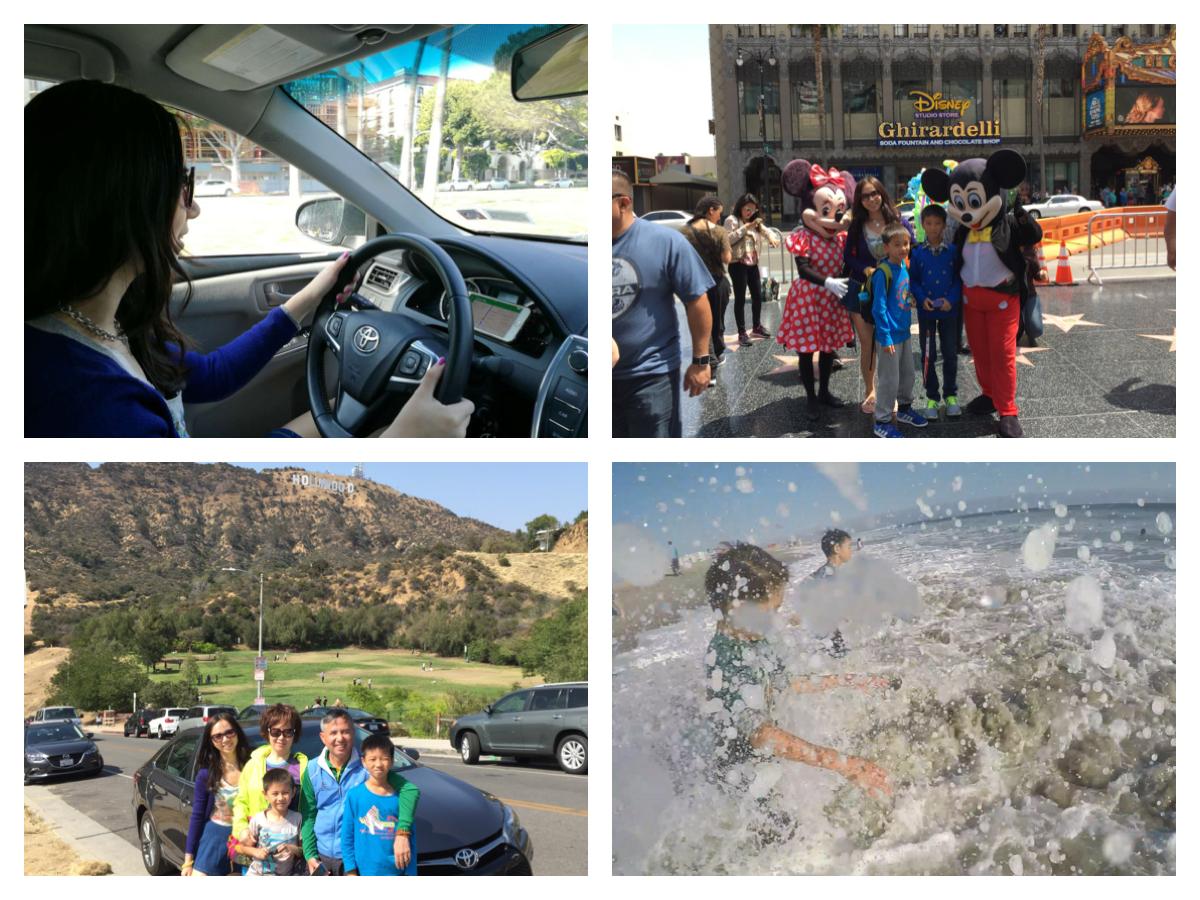 LA洛杉矶租车好莱坞环球影城海滩游记