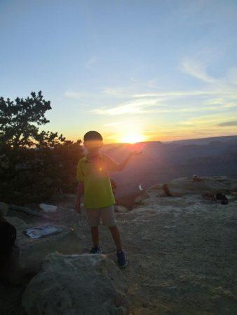 大峡谷夕阳落日